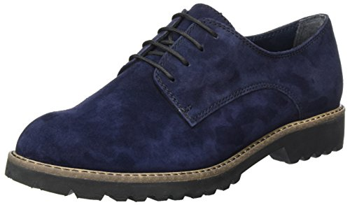 Tamaris Damen 23204 Oxfords, Blau (Navy Suede), 37 EU