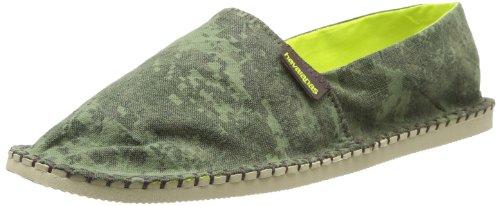 Havaianas Origine Camo, Espadrillas Unisex-adulto, Military green/citrus green, 38 EU