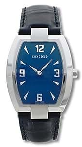 Concord - La scala - 0310788 - Montre Homme - Acier - Tonneau - Quartz Analogique - Cadran Bleu - Bracelet Cuir Bleu