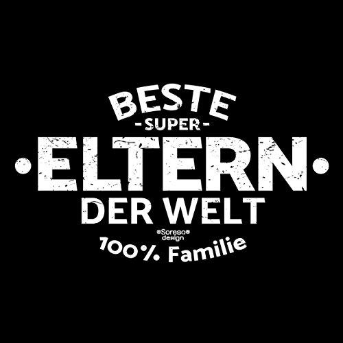 Eltern T-Shirt als Geschenk im Set zum Vatertag Muttertag Geburtstag Größen bis 5XL Print Aufdruck Beste Eltern der Welt Farbe: schwarz Schwarz