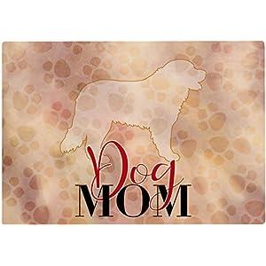 Cadouri Frühstücksbrettchen DOG MOM mit Berner Sennenhund Glasschneidebrett Schneidebrettchen – 28,5 x 20 x 0,4 cm