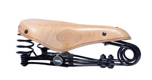 Mujeres-sillín Lepper Primus 215 bicicleta cuero marrón//negro//natural