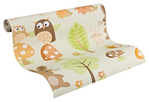 Preisvergleich Produktbild A.S. Création Tapete Boys & Girls 5 Papiertapete Kindertapete 10,05 m x 0,53 m braun bunt grün 935552