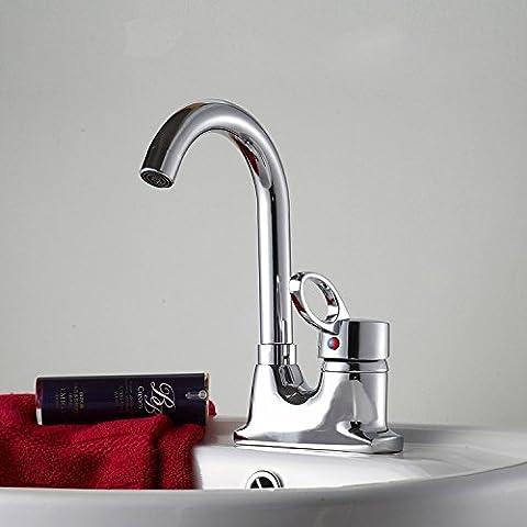 A caldo e a freddo il rubinetto con leva singola