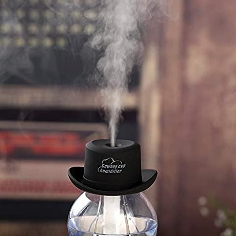 USB Portable Mini Humidifier Cowboy Cap hat Water Bottle Essential Oil Diffuser Aromatherapy Mist