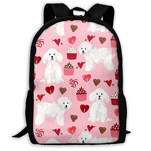 nstag - Love Valentines Stoff Herzen Cupcakes - Blossom Classic Rucksack Reisen Laptop Rucksack, College School Student Rucksack für Männer und Frauen ()