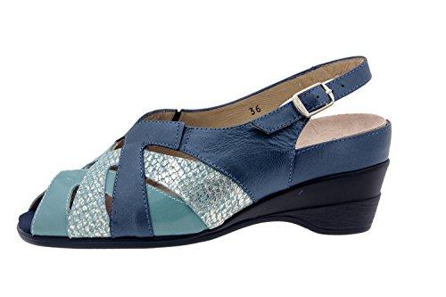 Scarpe donna comfort pelle Piesanto 4153 sandali soletta estraibile comfort larghezza speciale