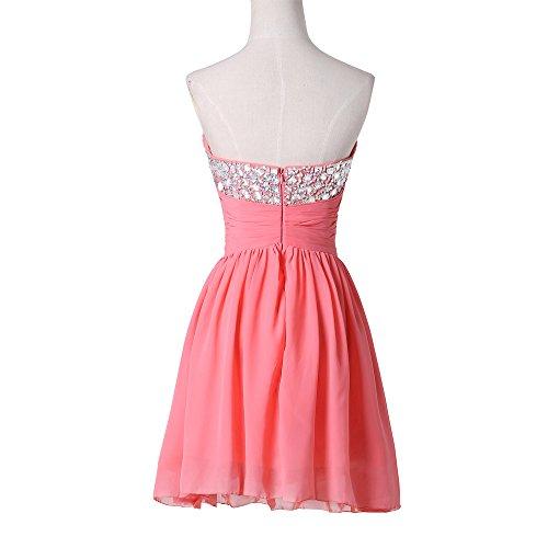 Bridal_Mall - Robe - Sans bretelle - Sans Manche - Femme Rouge - Corail