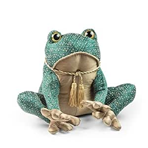 Dora Designs Traditional Collection Home Accessories Prince the Toad Green Doorstop by Dora Designs