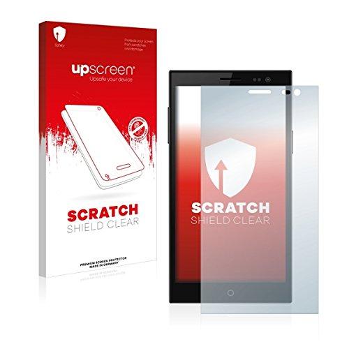 upscreen Scratch Shield Clear Bildschirmschutz Schutzfolie für Simvalley Mobile SPX-34 (hochtransparent, hoher Kratzschutz)