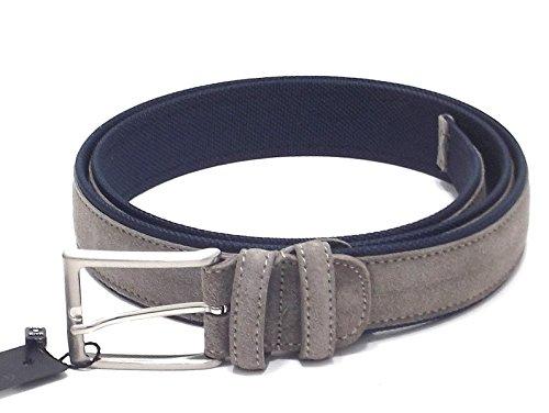 Cintura uomo, Dallas 208970-45, cintura in camoscio e tessuto, colore fossil blu