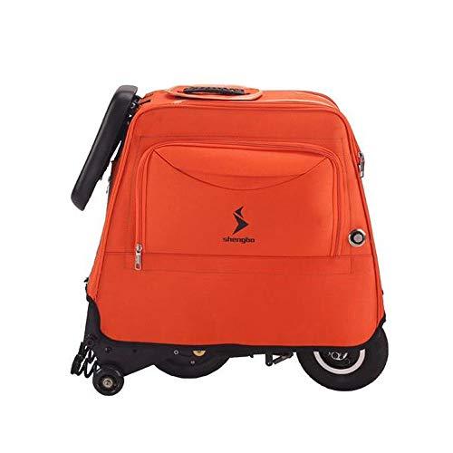 Y&XF Faltender elektrischer Roller für die Erwachsenen Minielektromänner und -Frauen, die kleinen Fahrrad Gepäck Taschen Roller mit Aufbewahrungstasche Falten,A,25~30KM -