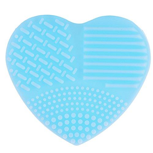 Ruier-hui Herzförmig Blau Kosmetikpinsel Reiniger Make Up Pinsel Reinigungsmatte Reinigung Reiniger Silikon / Pinselreiniger Brush Cleaner / Pinsel Matte Kosmetik