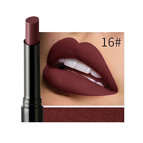 Farben Moisture Rich Lipstick (Allbesta Rot Serie Matt Lippenstift Pencil Matte Lipstick Bleistift Lip Gloss Wasserfest Langanhaltend)