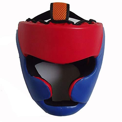 Ausrüstung für das Boxtraining Boxen Kopfbedeckung PU Leder Kopfschutz Sparring Helm für Boxen MMA UFC Muay Thai Kickboxen Mixed Martial Arts Wresting. Sportartikel ( Farbe : As picture , Größe : M ) -