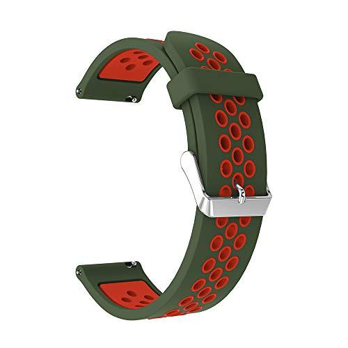 TianranRT Doppelte Farbe Sport Silikon Armband Gurt Band Für Samsung Galaxie Uhr (I, 46MM) (Cookie Band Cutter)