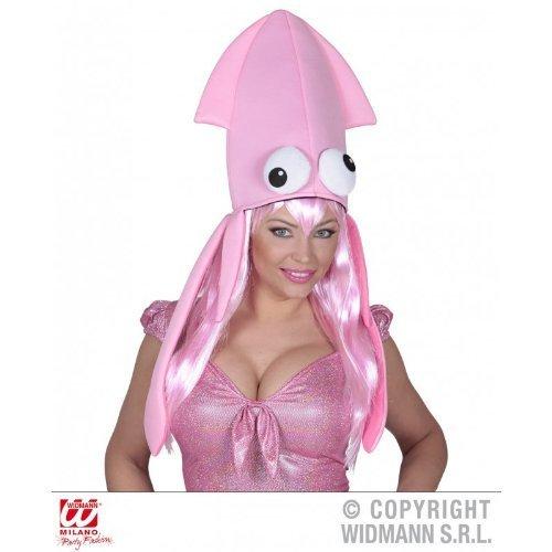Lustige, quietschbunter Oktopushut mit Tentakeln in pink