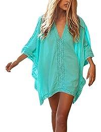 GTKC Mujeres Macrame ropa de playa Vestido M¨¢s el Tama?o de Crochet Bikini de encubrimiento