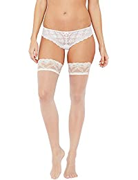 ba6fd3015c3cf J By Jasper Conran Womens Ivory 10 Denier Bridal Sheer Lace Hold-Ups