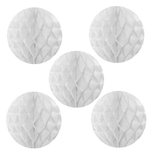 NectaRoy Wabenball Wabenbälle Honeycombs Pompoms Ball Hochzeit Partei Feier Dekoration für Hochzeit/Gebutztag/Baby Shower/Weihnachten (Weiß)