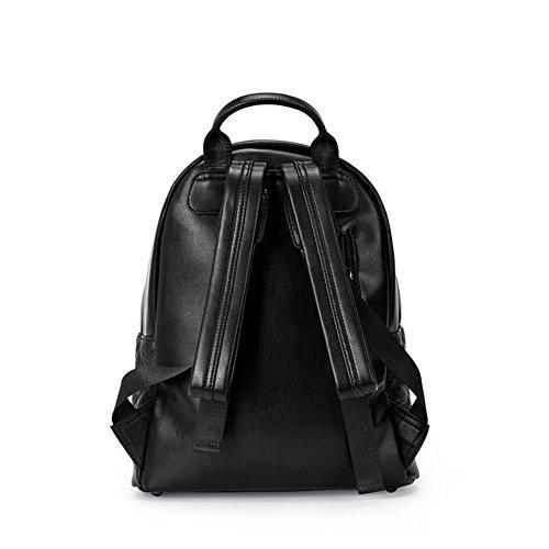Metal zaino openwork dell'inverno/Borsa tempo libero/ borsa di rivetti nero moda-A A