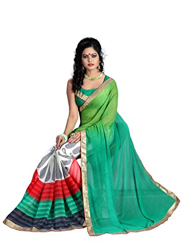 Glory Sarees Georgette Saree (Vn1003_Green)
