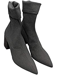 Strategia E1683 Socks Nero Tacco CAMOSCIO Pelle Opaca Nero 5935f9fb463