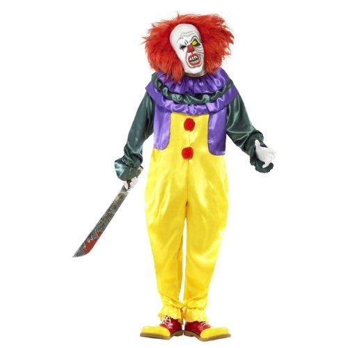 Im Clown Anzug (NEU Herren-Kostüm Horror Clown mit Maske, Gr.)
