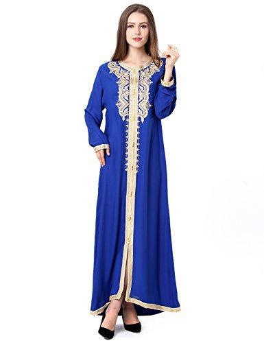 Muslim Abaya Dubai kleider für Frauen islamischen Kleid Islamische Kleidung muslimische Kaftan Rayon Gewand Jalabiya 1629 (Arabische Kleidung)