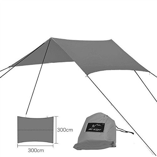 suyi Zelt Sonnenblende Wasserdichter Regenplane für Zeltplanen für Camping und Wandern, grau