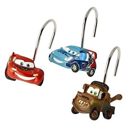 Disney Set Von 12Pixar Cars 2Vorhang für die Dusche Haken