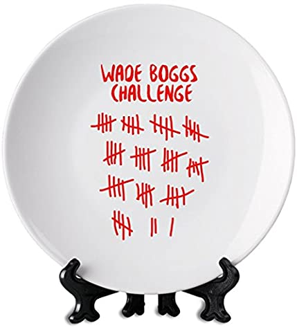 Wade Boggs Challenge Plaque blanche 6'' White Plate| Premium Ceramics-Personalized Dish| Print On Your Plate For Truly Unique Meal Times| Stylish Kitchenware By Hamerson