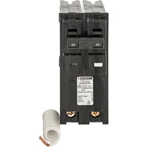 Square D by Schneider Electric HOM220CAFIC Homeline 20 Amp Two-Pole CAFCI Circuit Breaker, , by Square D by Schneider Electric (Square Homeline D)