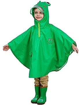 Bwiv Regenponcho Kinder Unisex Wasserdicht Atmungsaktiv Regenmantel Leicht Hautfreundlich Regenbekleidung Regen...