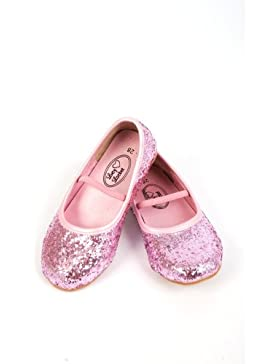 Glitzernde Ballerinas Pink - Ballettschläppchen Mädchen - Ballettschuhe Mädchen - Lucy Locket