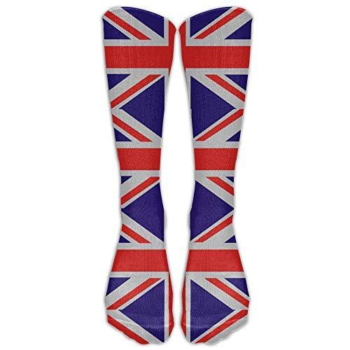 Bgejkos Britische Flagge-Großbritannien Englisch England Herren Damen Baumwolle Crew Athletic Socke Laufsocken Fußball Socken -