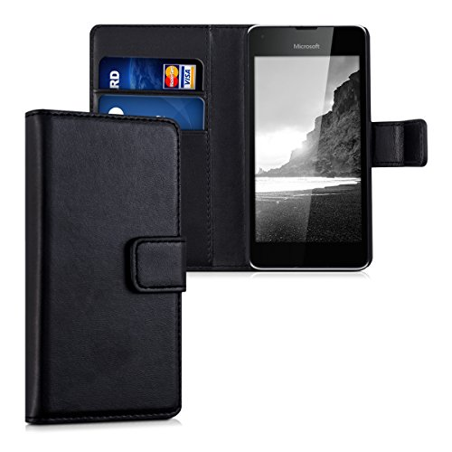 kwmobile Microsoft Lumia 550 Hülle - Kunstleder Wallet Case für Microsoft Lumia 550 mit Kartenfächern und Stand