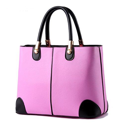 Sacchetti di spalla di cuoio del Faux dei sacchetti di Tote delle borse delle signore delle donne del progettista di lusso di modo Rosé
