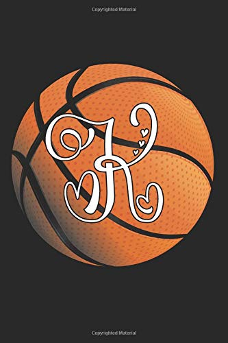 K: Basketball Journal Monogram Initial K Personalized Basketball Gift for Players Coaches Students Teachers (Basketball Notebook) por Happy Healthy Press