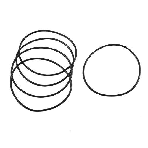 5Stück 90mm x 85mm Industrial Rubber O Ring Oil Seal Dichtungen Schwarz -