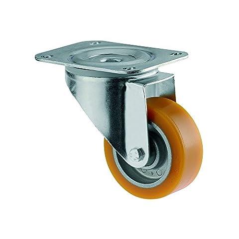 Tente 0090442200 Roulette pivotante ø 125 mm roue en Polyuréthane Jaune