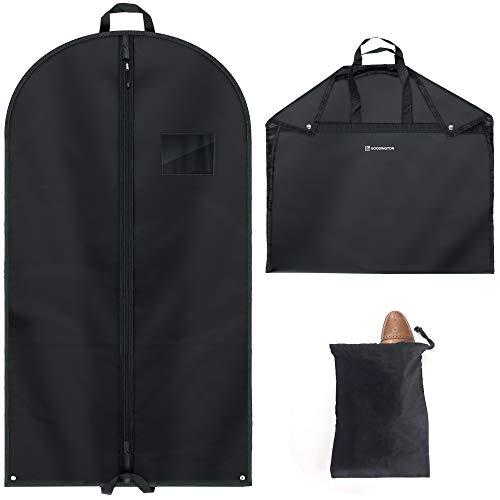 Goodington 2X Stabiler Kleidersack | hochwertige Polyester Anzugtaschen inkl. Schuhbeutel | Kleiderschutzhülle & Anzughülle für besten Schutz auf Reisen für Anzüge & Kleider | 110 x 60 cm