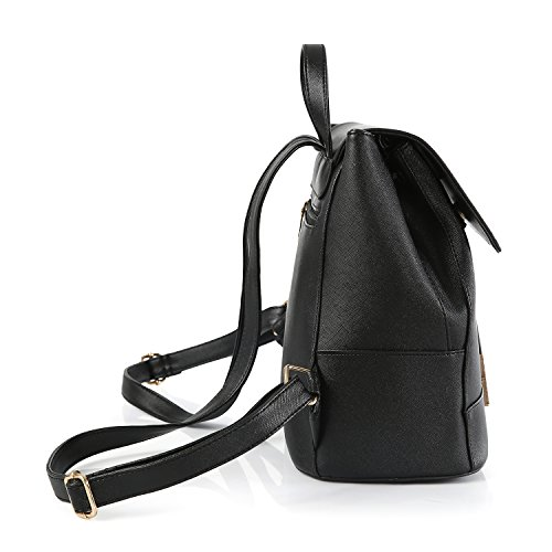 BYD - PU pelle Donna Female Borse a tracolla Backpack Borsa a Spalla Fashion Travel Bag Office Bag Shoulder Bag Designer Borse Nero