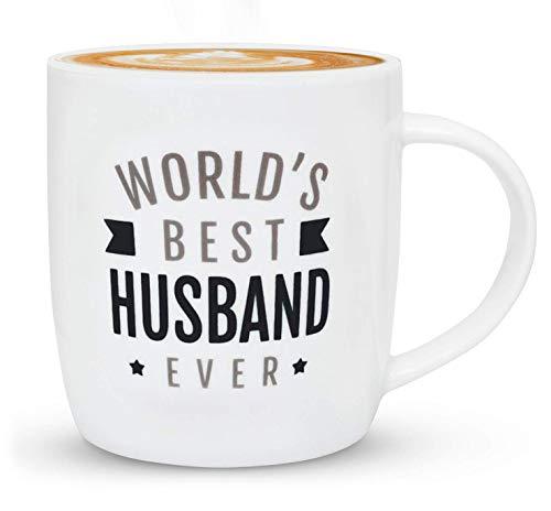 Gifffted Kaffeetasse Beste Ehemann-Geschenke von der Frau, Mann Geburtstag, Ehemann Jahrestag, für Valentinstag Geschenkideen, Weihnachtsgeschenke, Weihnachten Geschenk, Tasse, 380 ML