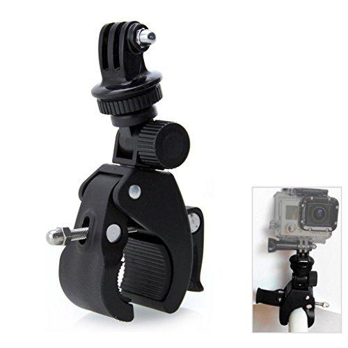 Halterung für GoPro Hero 5 / 4 / 3+ / 3 / 2 / 1. Activeon, A-Rival, DBPOWER, Garmin, QUMOX, Rollei, TomTom Action Cam, 360 Grad-Umdrehung Lenker Fahrrad Motorrad