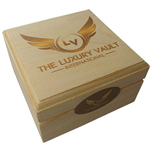Buddha Buddah Taschenuhr 24Karat Gold beschichtet Full Hunter mit Kette in Holz Geschenkbox Vermittlung Heilung nomaste Yoga