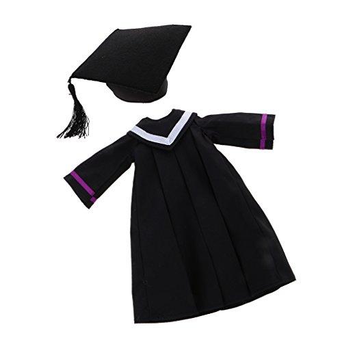 CUTICATE 1/6 Graduation Dress Academic Kleid Mit Trencher Cap Für 12 '' Blythe Dolls Graduation Kleid