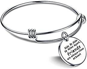 Yellow Chimes Friend Love Steel Collection Charm Bracelet for Girls (Silver)(YCSSBR-222FRND-SL)
