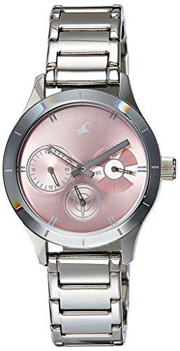 Fastrack Monochrome Analog Pink Dial Women\'s Watch - 6078SM07