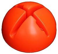 agility sport pour chiens - socle remplissable pour jalons et cerceaux, couleur : orange